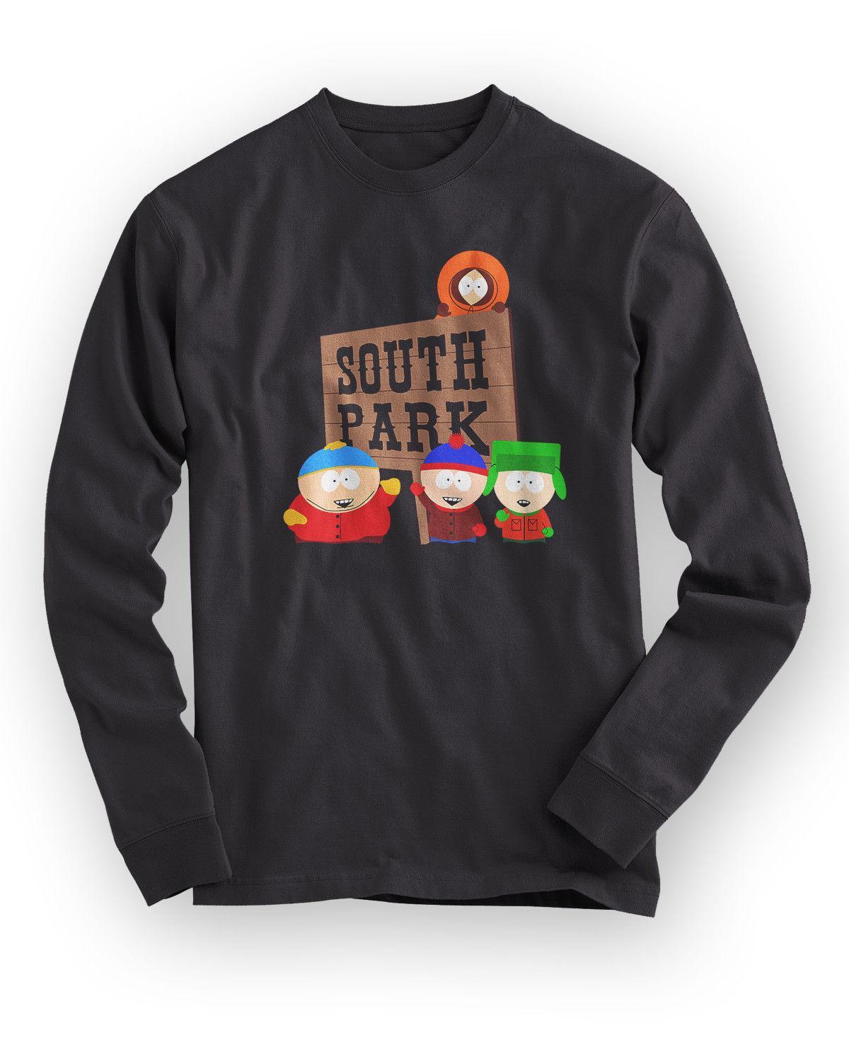 ee351b9b923 SOUTH PARK GROUP Funny Cartoon TV Series Long Sleeve Men S Black T Shirt S  3XL T Shirts Buy Shirt T From Banwanyue3