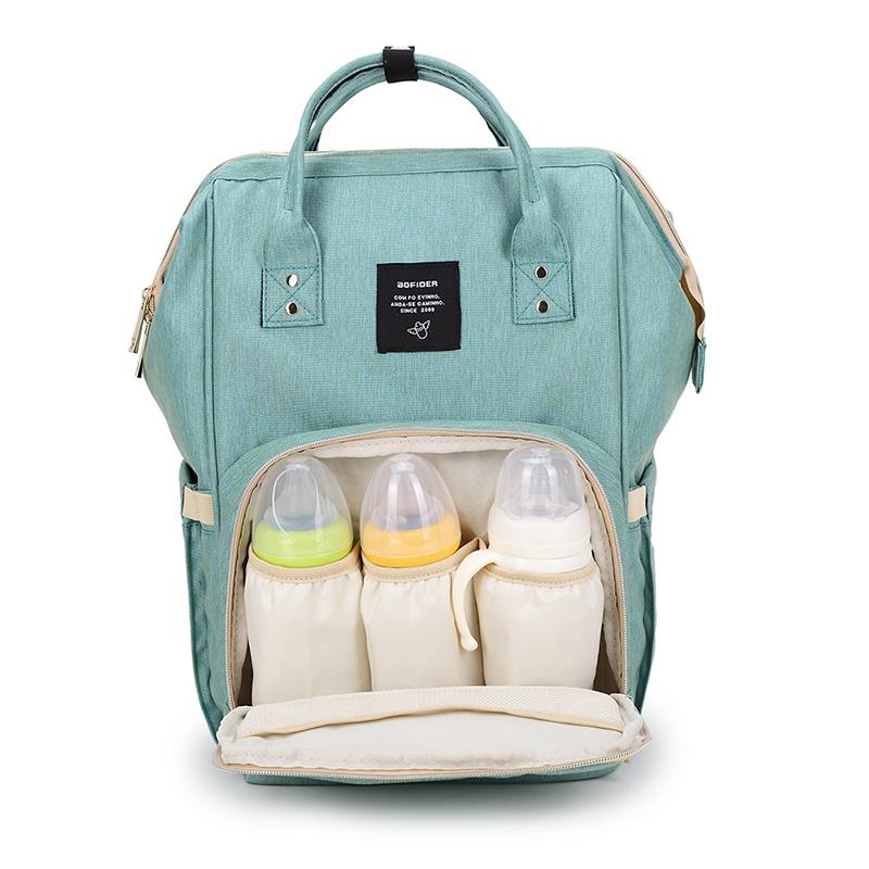 AOFIDER  Diaper Bag Waterproof Travel Backpack Fashion Mummy Nappy Nursing Bags Baby Care Multi-Function Large Capacity Bag