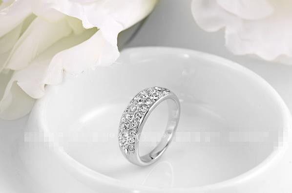 Klassischer Diamant Schmuck Großhandel eingelegten Diamantring