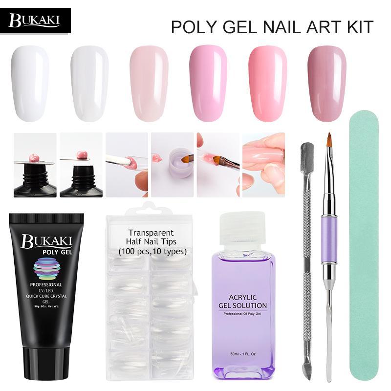 Nails Extension Crystal Jelly Poly Gel Set Builder Uv Gel For Nails ...