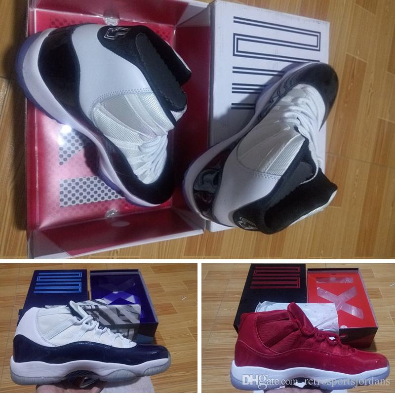 fb50774d626d63 With Slide Box 2018 New 11s Concord Mens Basketball Shoes White ...