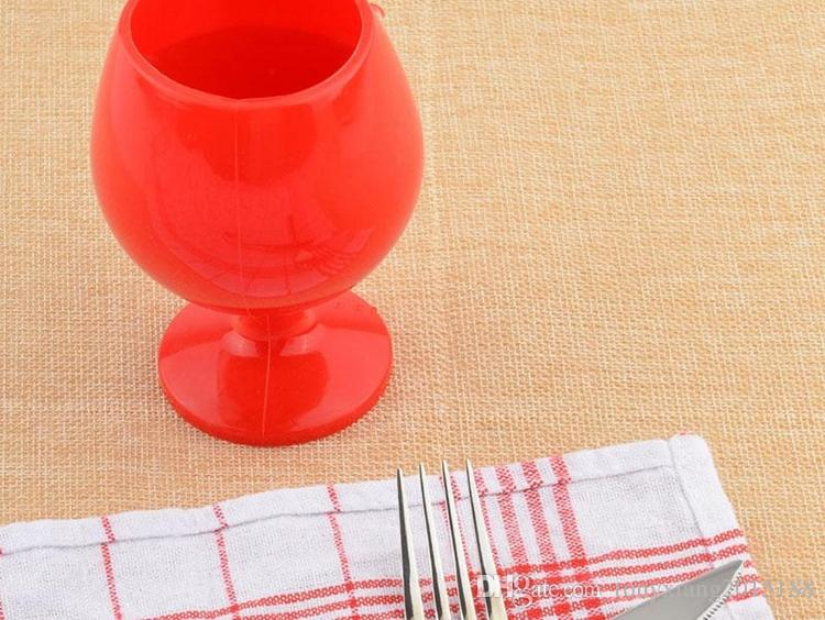 wjholesales Portable Rubber Wine Beer Glass Standing Goblet Silicone Cup Wine Glasses New Design Fashion