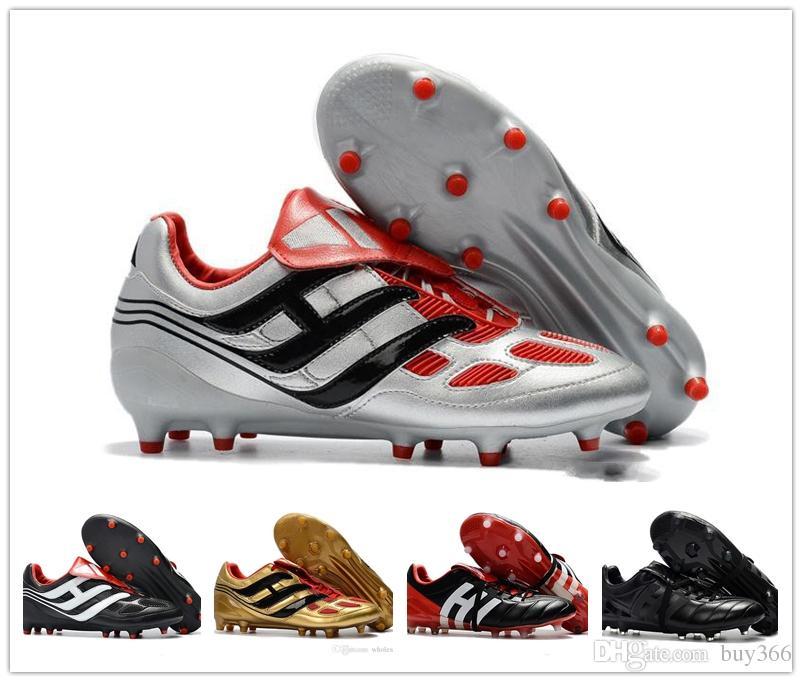 9124cc4b1 Compre Nuevos Zapatos De Fútbol Predator Precision FG Limited Edition Blue  Champions League Beckham Mania Fútbol Soccer Boots Con Zapatos Size 36 45 A  ...