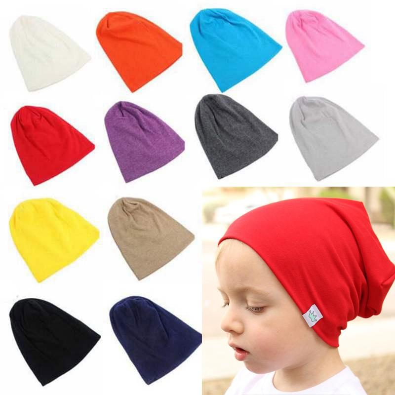 Winter Hat For Children Cotton Knitted Skullies Beanies Newborn Baby Embroidery Crown Hat Girls Boys Autumn Solid Outdoor Cap Mother & Kids Boys' Clothing