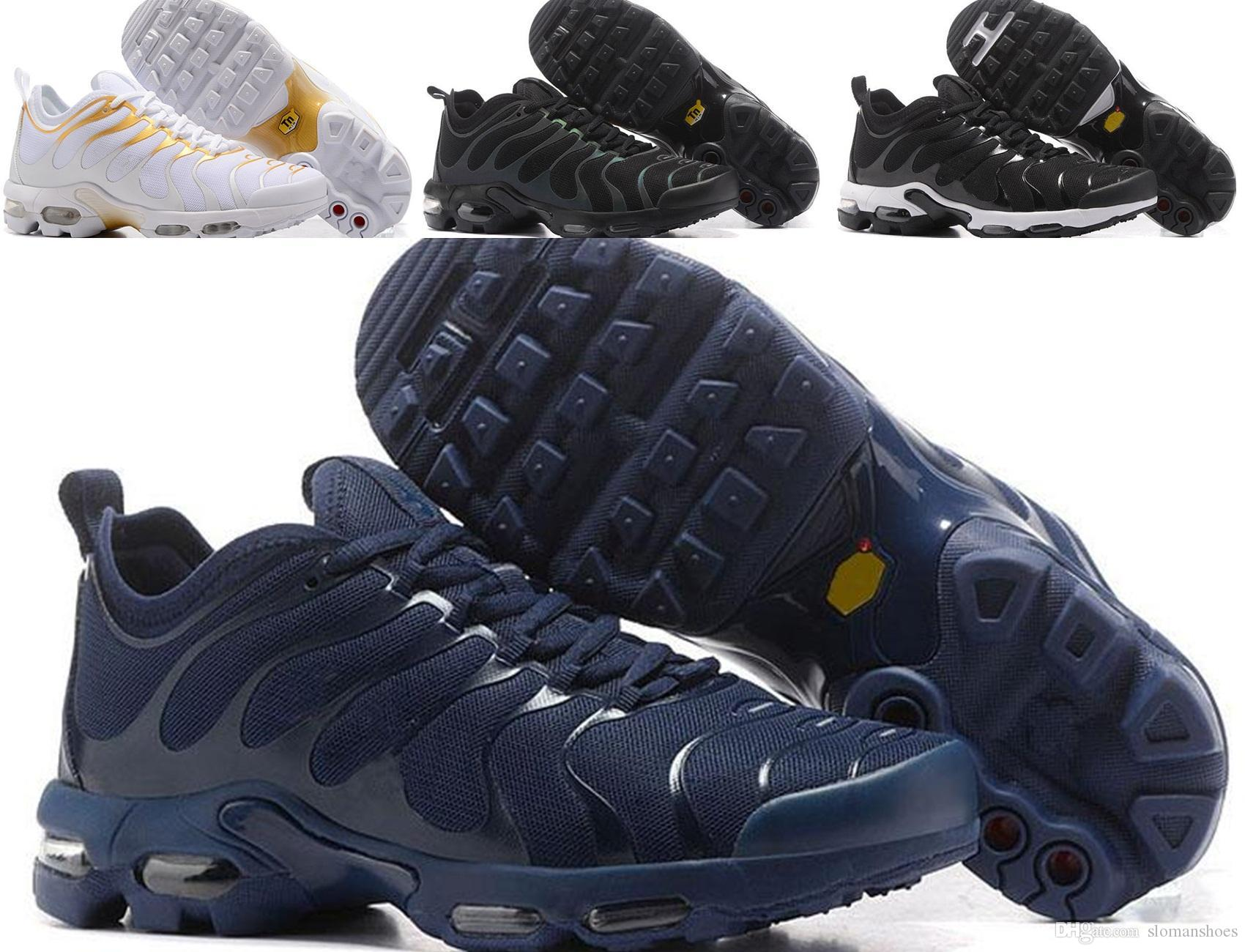 Vapormax TN Plus Running Shoes 2018 Men Outdoor Run Shoes Black White Sport Walking Trainers Hiking Sports Athletic Sneakers EUR40-45 free shipping visa payment with paypal for sale 7FuvwC55