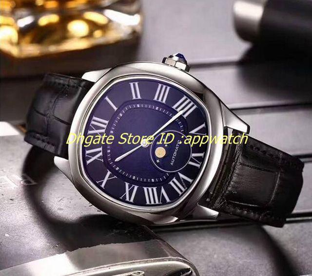 2018 Hot Prong Set Diamonds Bezel Watch Automatic Mens Luxury Case ...