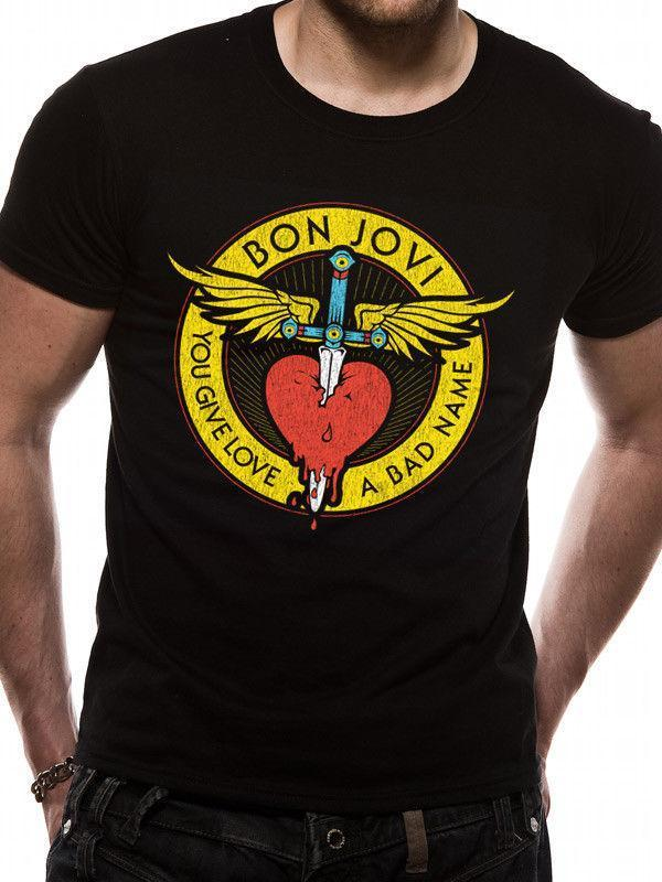 901b6f2d Bon Jovi You Give Love A Bad Name Mens T Shirt Top L Humor Tees Funny Tee  From Yuxin007, $13.8| DHgate.Com
