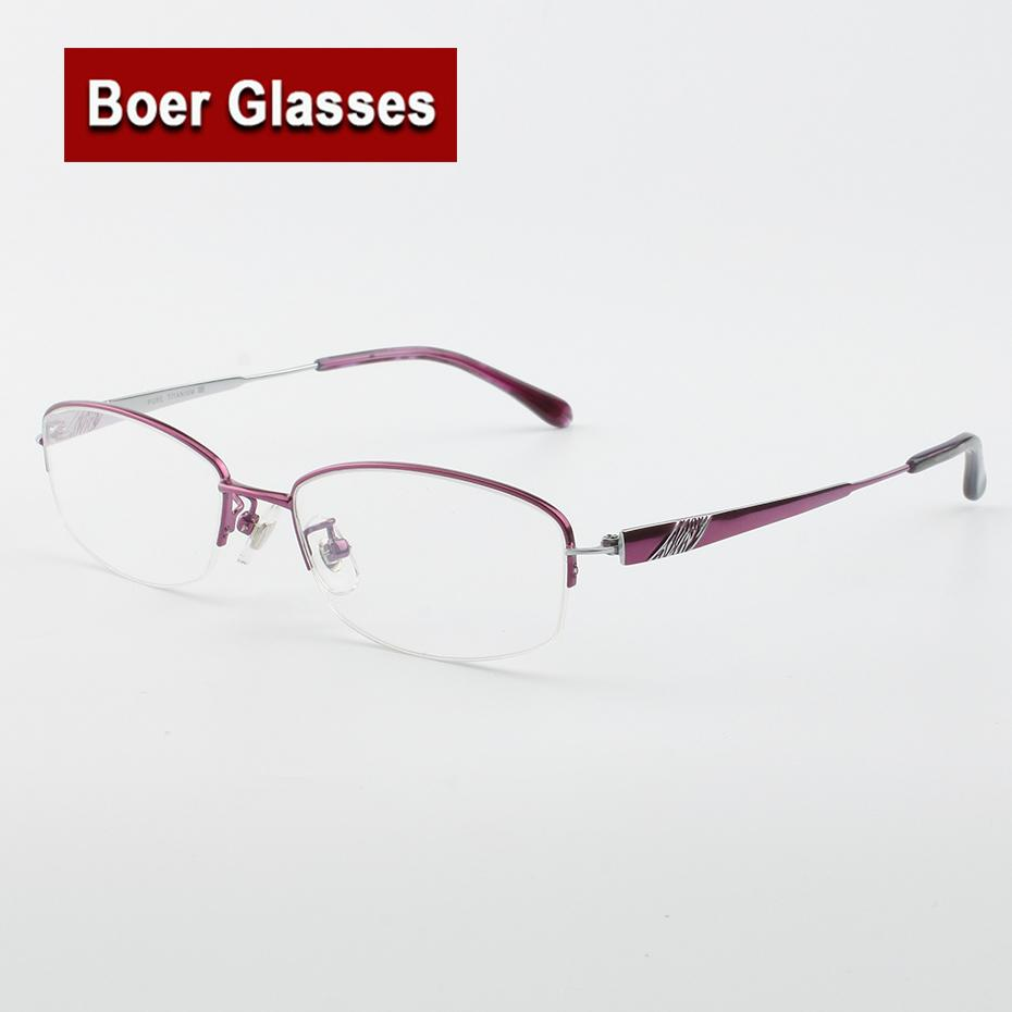 a80dd9e3ad6 2019 Hot Sale Fashion Women s Pure Titanium Eyeglasses Halfrim Optical  Frame Prescription Spectacle Reading Myopia Eye Glasses LB6627 From  Junemay