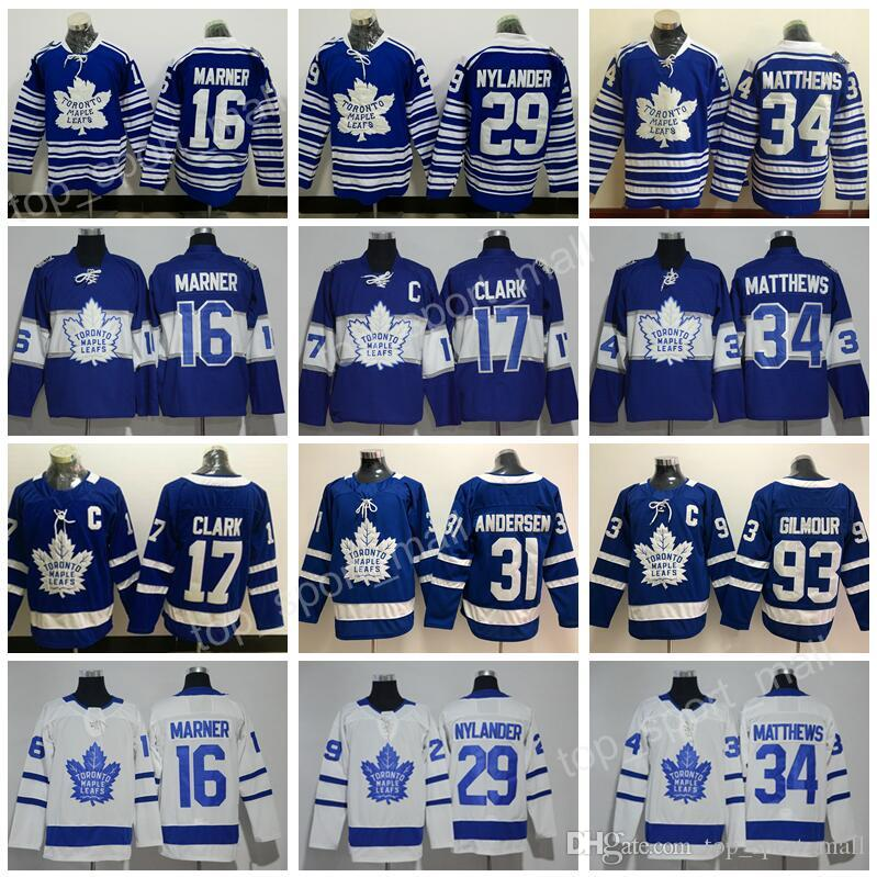 brand new a2f76 5d6ba 2014 Winter Classic 2017 Centennial Classic Jerseys Toronto Maple Leafs  Blue 34 Auston Matthews 43 Nazem Kadri 44 Morgan Rielly Custom Name