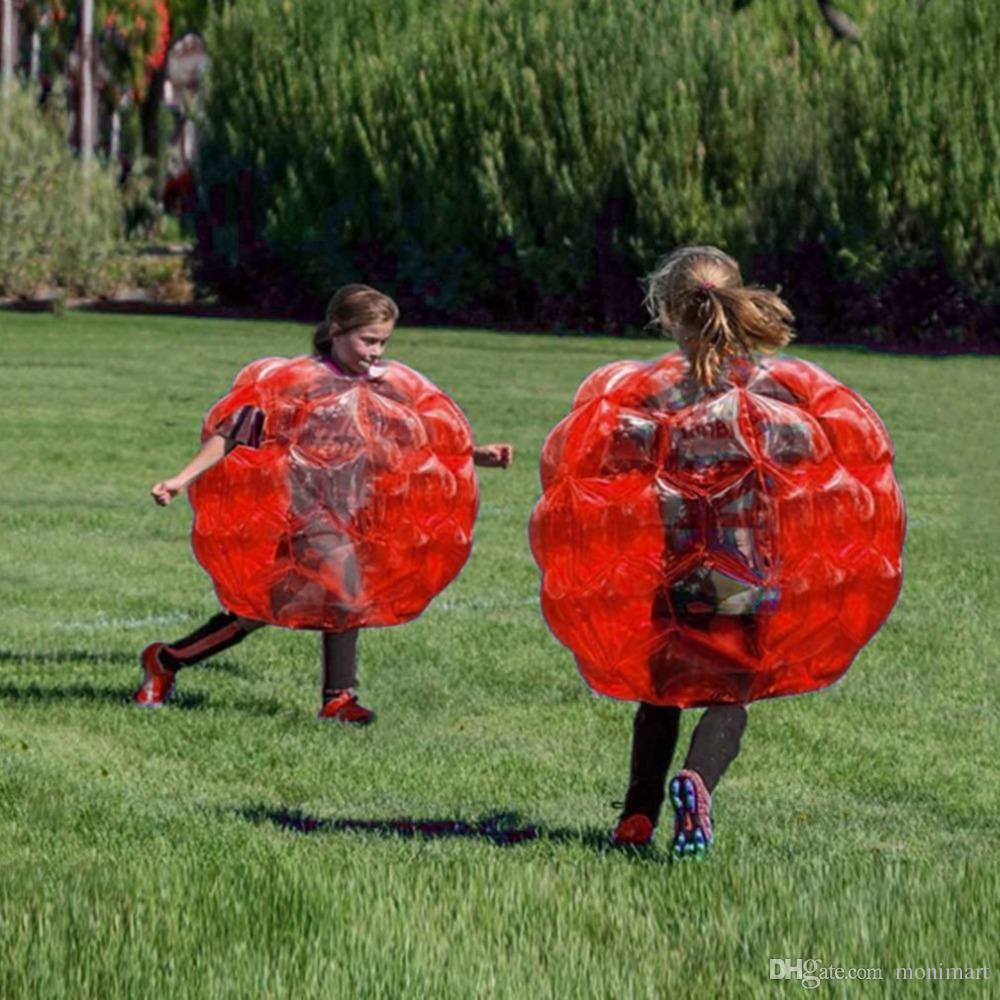 Palla gonfiabile del paraurti del corpo di collisione delle palle dell'ammortizzatore della bolla di attività all'aperto amichevole i bambini Palla di perforazione del corpo divertente adulto 90 cm 60 cm