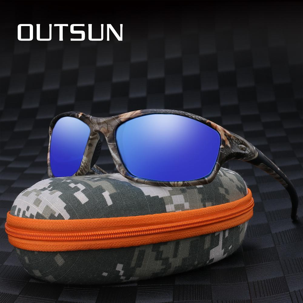3907dc097586 OUTSUN Men Polarized Sunglasses Camo Design Fishing Goggles Unisex Sun  Glasses Vintage Oculos De Sol Prescription Sunglasses Online Black  Sunglasses From ...