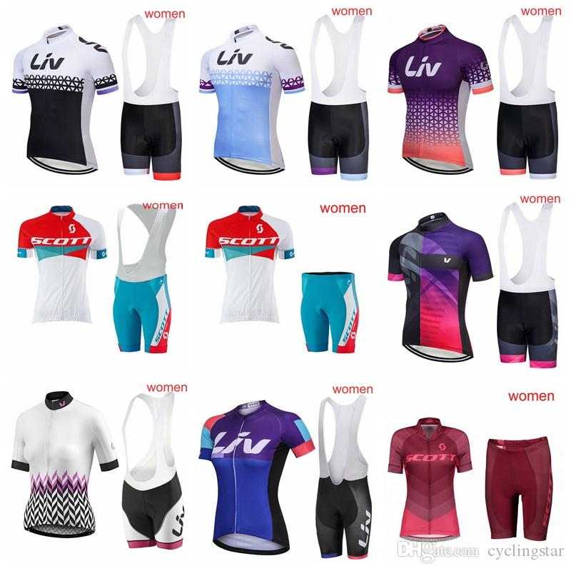 Women S Scott Cycling Jersey Sets Breathable Short Sleeve Liv Cycling  Clothing Bicycle Wear Tour De France 2018 Ropa Ciclismo 90603Y Mens Bike  Shorts ... 58aa713eb