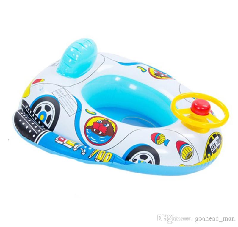 2018 Baby Swimming Seat Inflatable Float For Kids Toddler Infant Safety Boat Pool Ring With Handle Police Car Style From Goahead Man