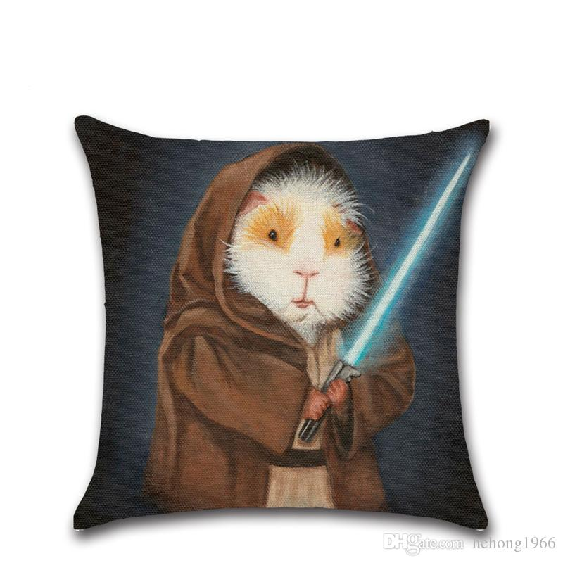 Digital Printing Cartoon Design Cushion Cover With Invisible Zipper Pilllowcase Creative Kawaii Guinea Pig Style Pillow Case 4 8khc Z