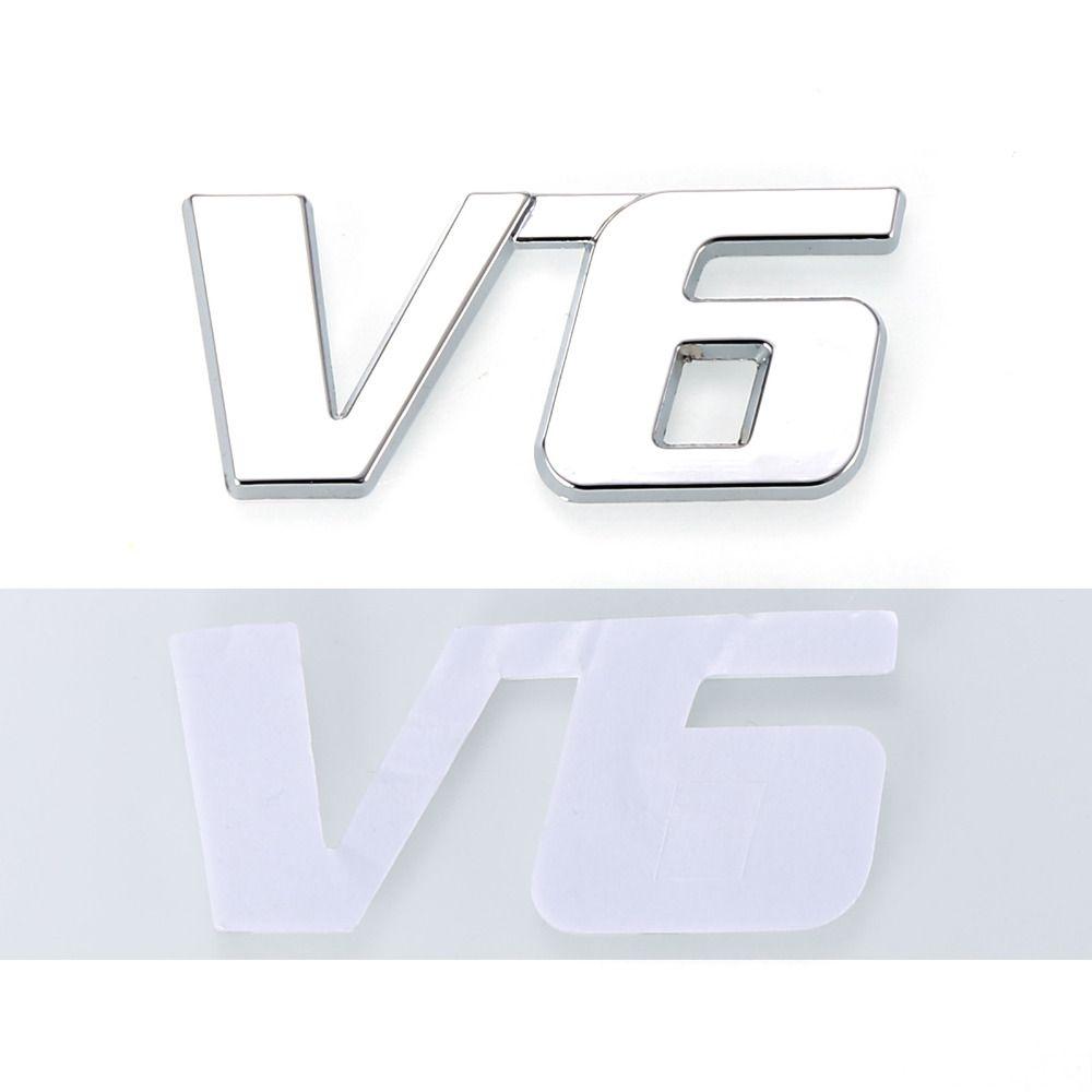 Decalcomania dell'emblema del motore dell'automobile del camion del distintivo del metallo di Chrome 3D V6 di spostamento