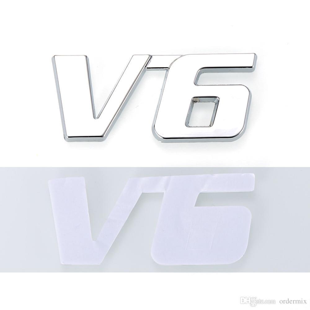 Metall Chrom 3D V6 Verschiebung Emblem Abzeichen LKW Auto Motor Aufkleber Aufkleber