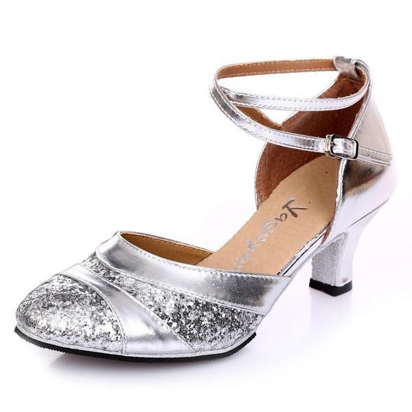 Sports & Entertainment New Women Silver Glitter Ballroom Latin Dance Shoes Wholesale Salsa Dance Shoes All Size Fashionable Patterns