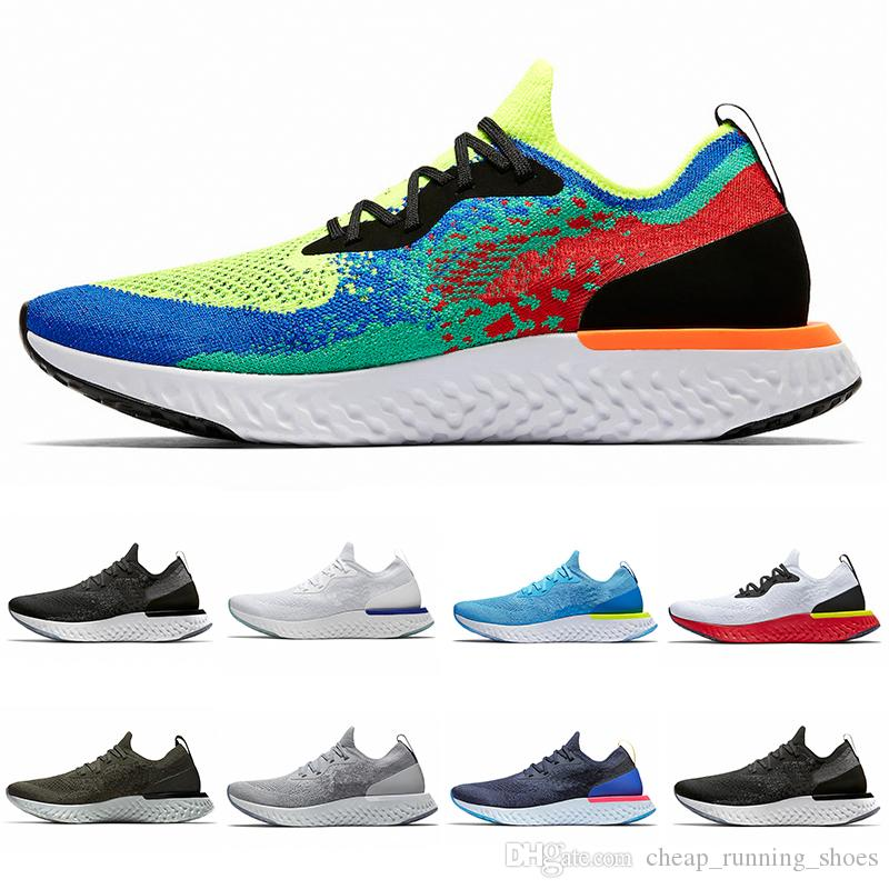 2018 Belgium Epic React Instant Go Fly men women running shoes Blue Glow black white causal mesh Breathable sport Athletic trainer sneakers