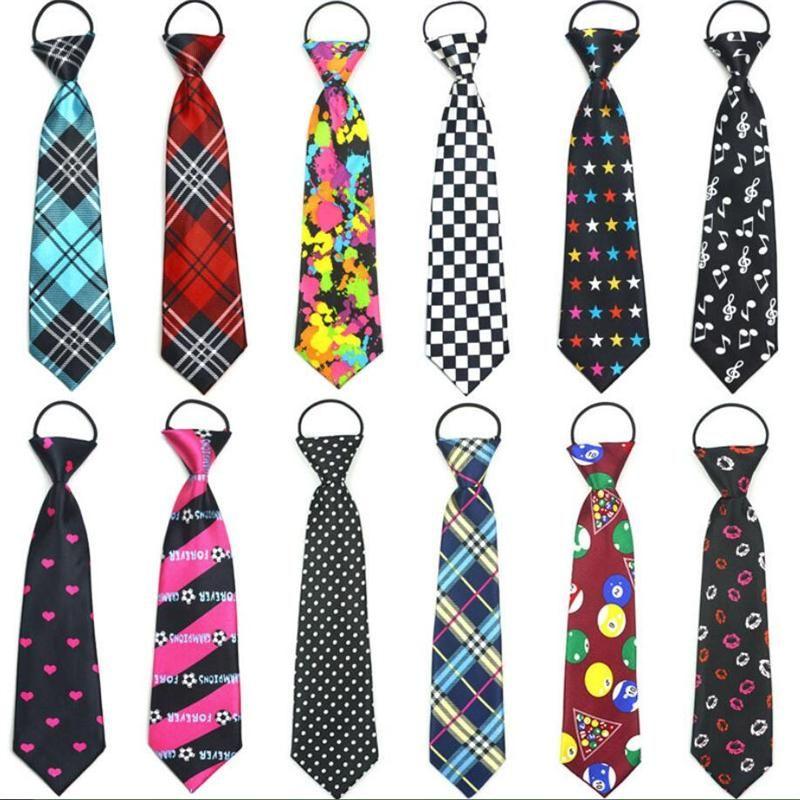 0c437b8f292a Kid S Necktie Print Cartoon Ties For Children Strip Dot Star Polyester Tie  Elastic Rope Donald Trump Ties Kids Ties From Wlt1020