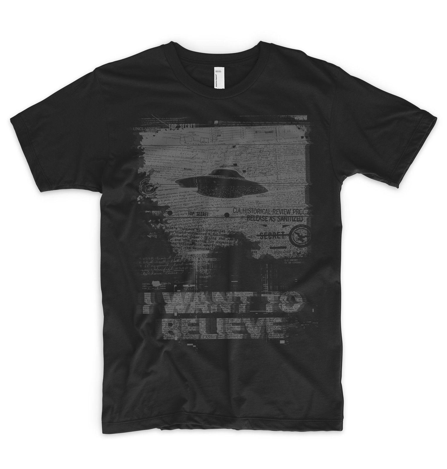 f14e08b642663 I Want To Believe T Shirt Alien UFO Area 51 Roswell X Files Space Ship  Greys Online Shopping For T Shirt Silly Tee Shirts From Bstdhgate03,  $11.01| DHgate.