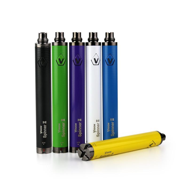 Visão Spinner 2 bateria 1650 mah evod Torção 3.7 V-4.8 V Visão Spinner II Bateria Tensão Variável Para 510 fio ETS Nautilus Vape Pen