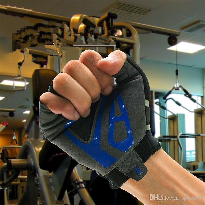 BOODUN Guantes de medio dedo para hombres de gimnasio para deportes de fitness Guantes de Crossfit Levantamiento de pesas con mancuernas Barbell culturismo entrenando guantes de gimnasio