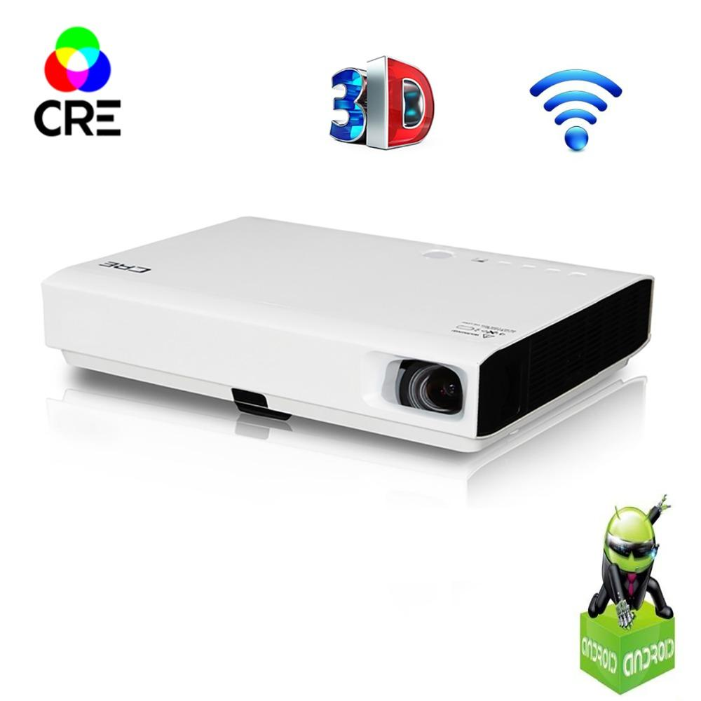 CRE 3 LED 3D dlp projector support 1080P 3000lumens android wifi bluetooth projector for home,Business,Education