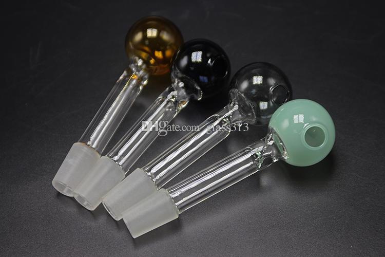 2018 Cristal Quemador de aceite de tubo de 10 mm 14 mm 18 mm Hombre Mujer conjuntas Pipas Coloridas Para Bongs de cristal plataformas petrolíferas