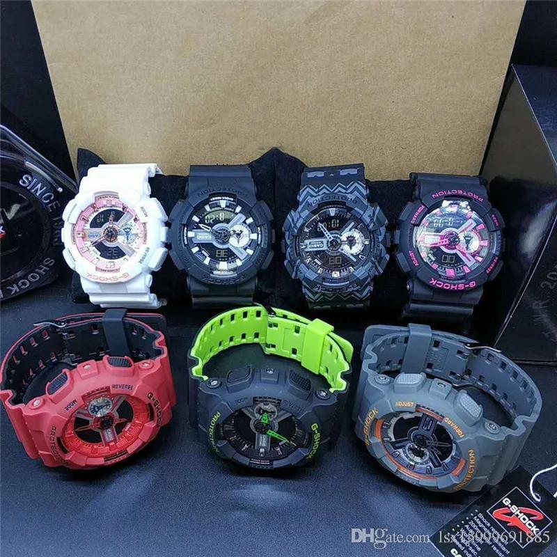 Relogio chaud G WG montres de sport pour hommes GW1000 Affichage LED armée de la mode armée choquant montres hommes Casual Watches R001
