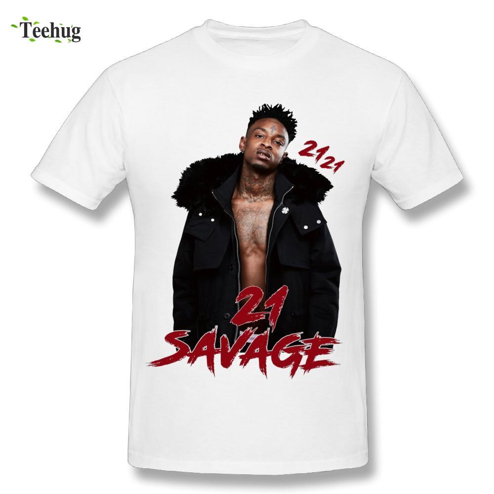 Grosshandel Sommer Mann 21 Savage T Shirt Rundkragen Hip Hop 21savage