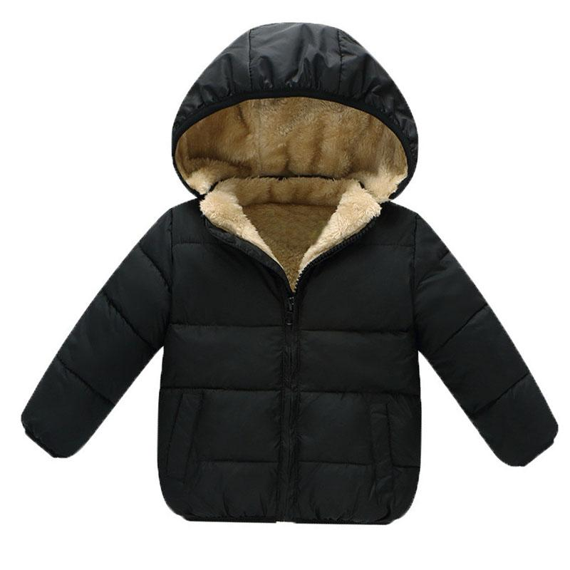 BibiCola Children Outerwear Coat Winter Baby Boys Girls Jackets Coat Infant Warm Baby parkas Thick Kids Hooded Clothes