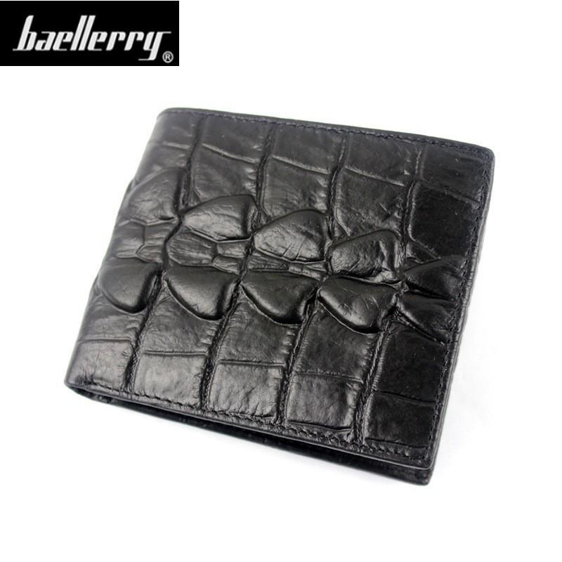 a488692c65d0 Fashion Genuine Leather Crocodile Men Wallets Bifold Wallet ID Card holder  Coin Purse Pocket Brand Male Credit & Id Card Wallets