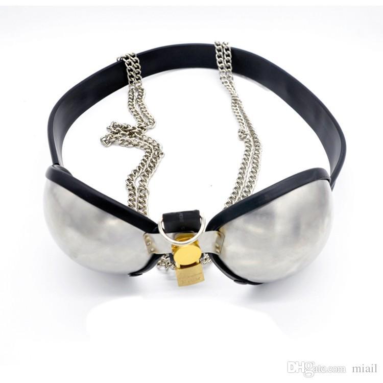 Stainless Steel Adjustable Bra/Brassiere Chastity Belt Female Chastity Device,Adult Game BDSM Bondage Sex Toys