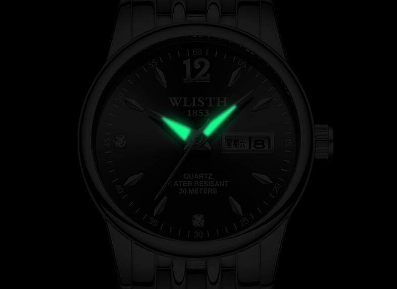 НОВЫЙ Офис Очарование женщин браслет часы розовое золото из нержавеющей стали дата дисплей топ кварцевые женские платья модные часы женские часы