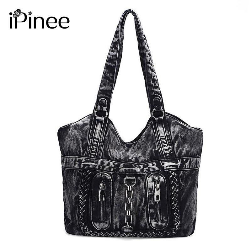 IPinee Large Luxury Handbags Women Bag Designer Ladies Hand Bags Big Purses  Jean Tote Denim Shoulder Crossbody Messenger Bag Handbag Sale Cute Purses  From ... d353d44238098