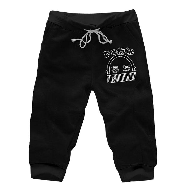 b58dcaf1ba197f 2019 Anime One Punch Man Jogger Shorts Knee Length Cotton Casual Short  Harem Sweatpants Pockets Tracksuit Copslay Athleisure Trousers From  Xiatian8, ...