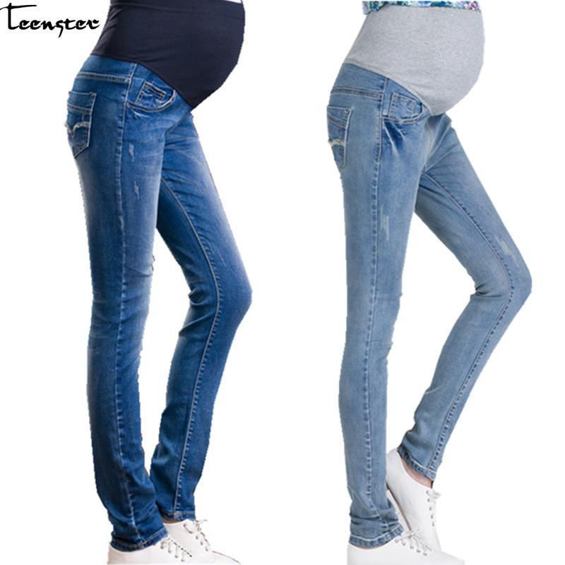 6d70604234124 2019 Teenster Maternity Clothes Pregnancy Pants Pregnant Jeans Stomach Lift  Adjustable Belt Jeans For Pregnant Plus Size Trousers From Luckyno, ...