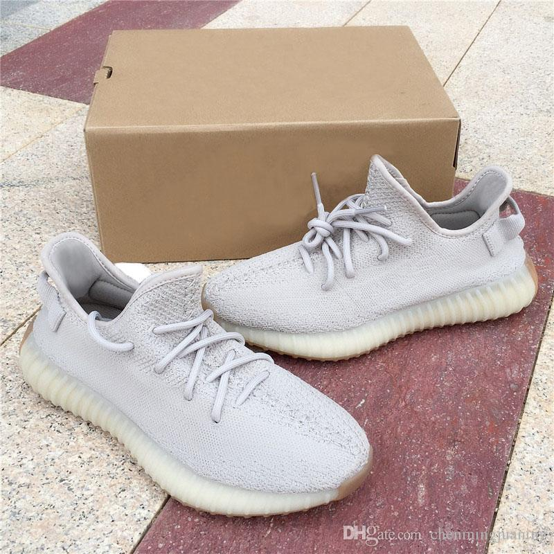 official photos 1302f b3671 Acquista Butter Ice Yellow 350 V2 Sesame Primeknit Autentiche Scarpe  Sportive All aria Aperta Kanye West Beluga 2.0 Scarpe Da Corsa Ammortizzate  Design Sole ...
