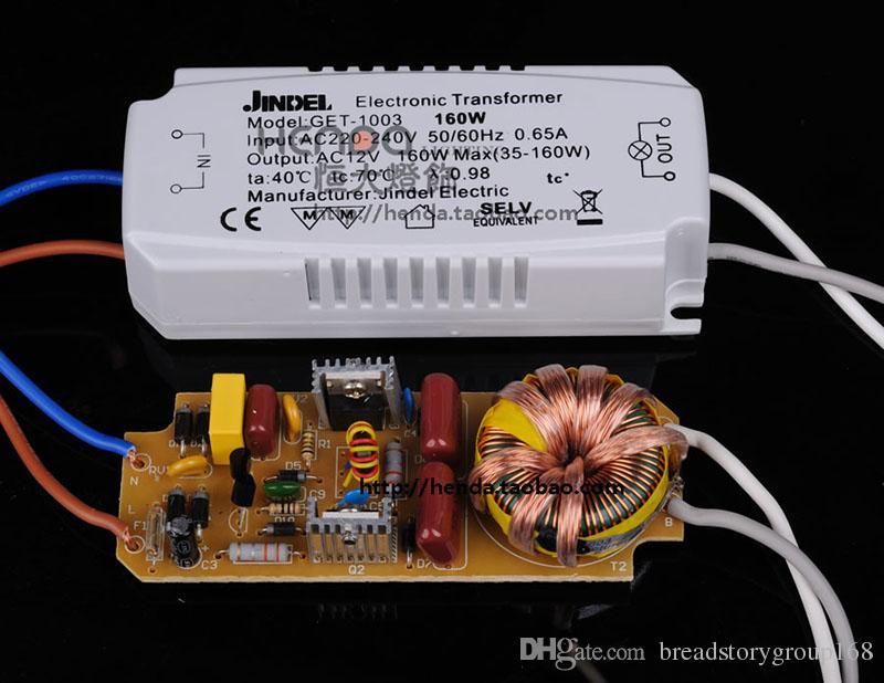 AC220V JINDEL Electronic Transformer AC12V for Halogen Light Beads Lamp Cup 60W 80W 105W 120W 160W