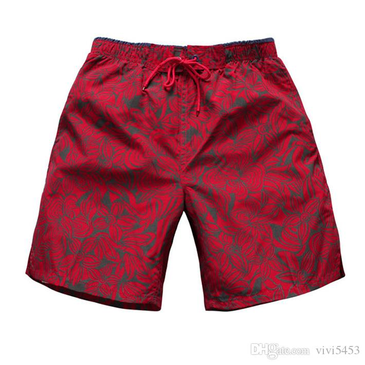 1f8182b34e New Summer Men's Shorts Male Red Printing Quick-dry Fifth Shorts Men ...