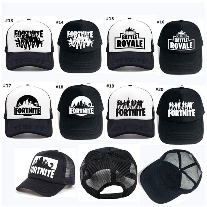 2d6f0f7c1 20 Style Fortnite Battle Royale Baseball Caps Fashion Women Men Mesh  Breathable Snapback Cap Unisex Adjustable Sport Hats Dad Hat Bone