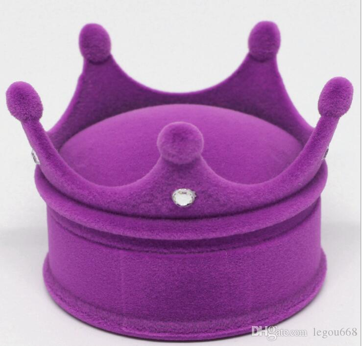 New Crown Velvet Ring Display Box Ear Stud Necklace Jewelry Case Container Wedding Ring Gift Case Earrings Storage GA30