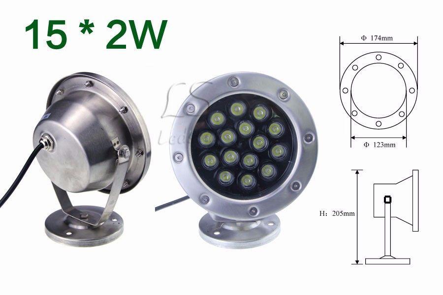 6 W / 12 W / 18 W / 24 W / 30 W / 36 W Rojo Verde Azul IP68 CREE LED Acuario Subacuático Piscina Tanque de Pescados RGB lámpara de luz 12 V