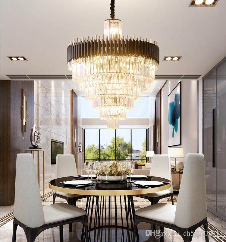Light Luxury Crystal Chandelier Dining Room Chandelier Table Club Bar Nordic Modern Luxury Led Lamps Unique Chandeliers Silver Chandelier From