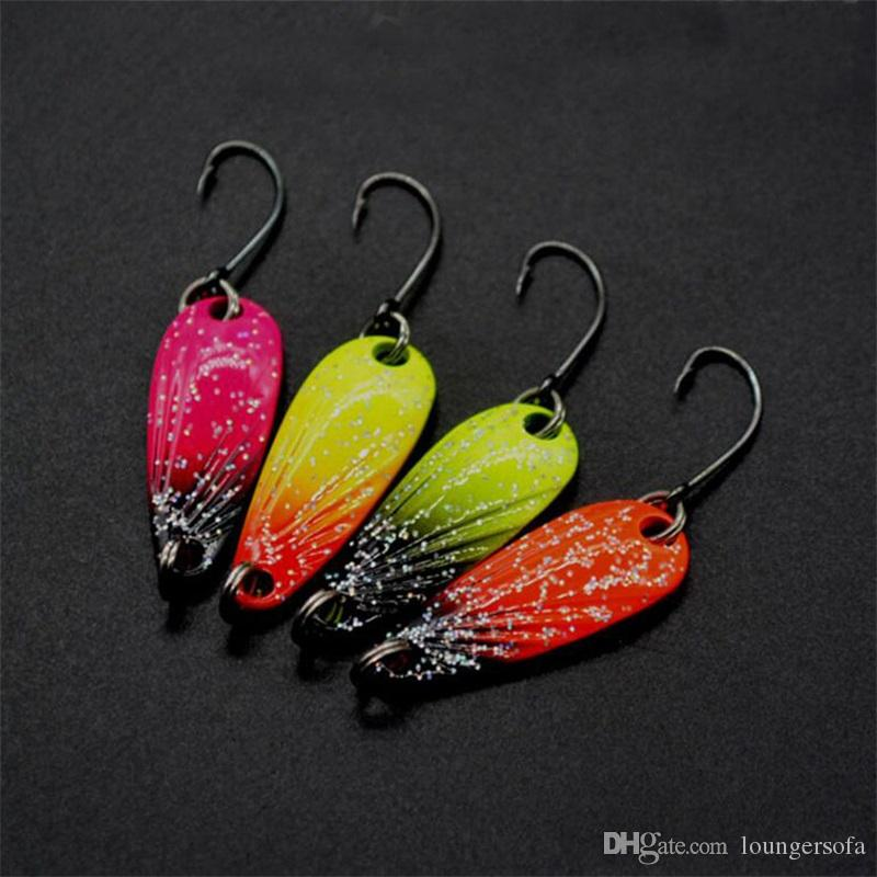 3g Fishing Metal Spoon Baits Sequins Spinner Fishing Lures Hook Trout Mini Wobbler Artificial Dragonfly Design Catch Fishes Pesca 1 6yj ZZ