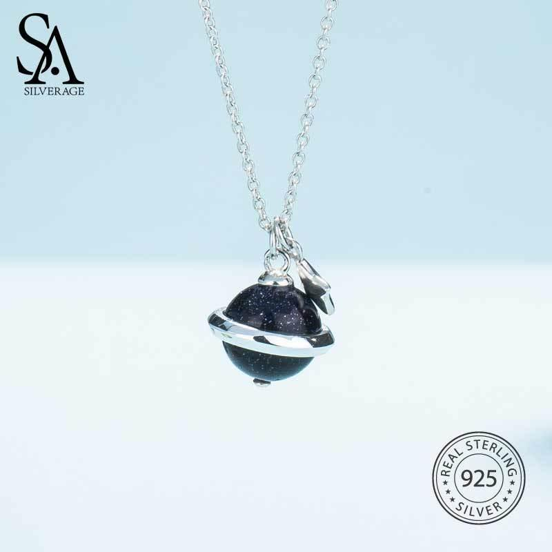 2019 SA SILVERAGE 2018 Women Black Gemstone Necklaces Real 925 Sterling  Silver Necklaces Maxi Vintage Diamond Pendants For WomenY1882903 From  Tao03 4609f2c957