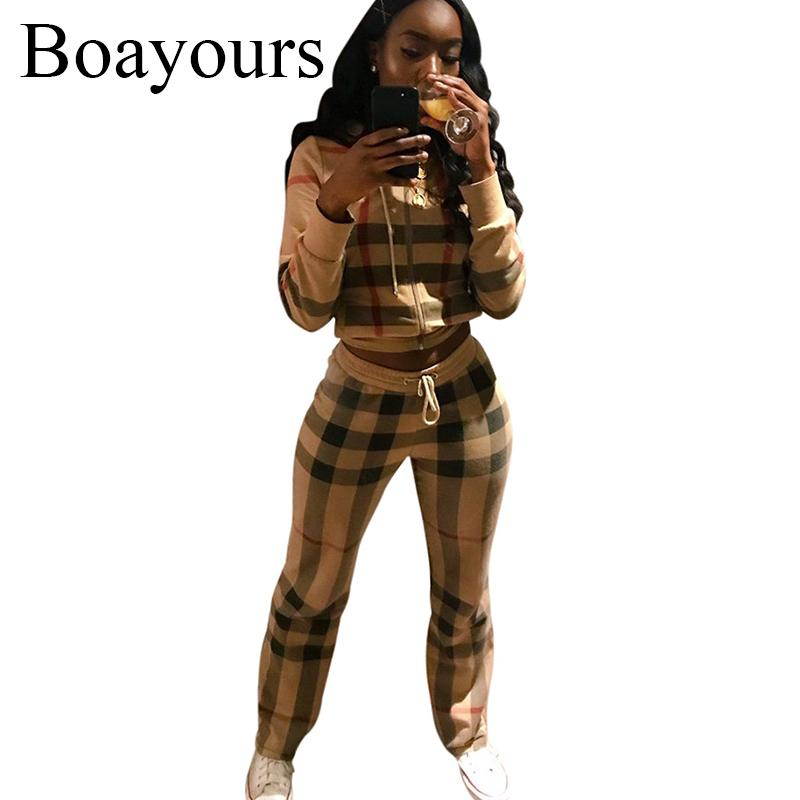 f72c80f4298 2019 Boayours Set Women Outfits Rompers Print Jumpsuit 2018 Spring Casual  Ladies Long Sleeve Top Long Trousers Sexy Overalls From Balsamor