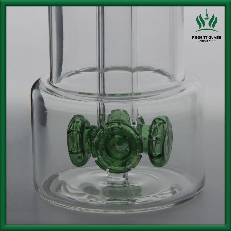 Rauchen Bong Water Pipe Giftas Glas Einzigartige DAB Rigs Recycler Bubbler 14mm Gelenk mit Quarz Banger Dabber Tool