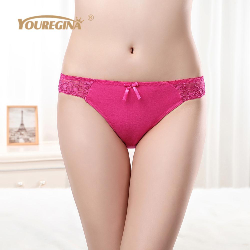 YOUREGINA Sexy Women Lace Underwear Panties Cotton Boxer Briefs Knickers Lingerie Ladies Panties Woman Underwear Cotton