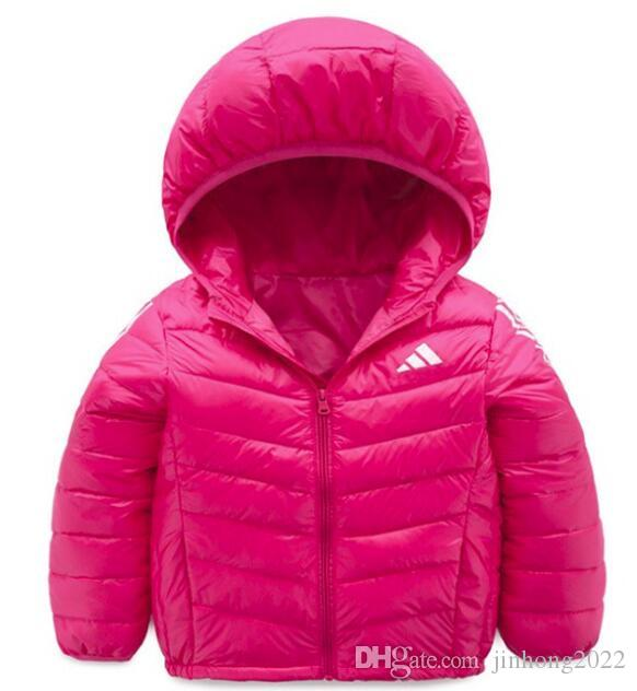 ee2f1ab55 free shipping Winter new children's down jacket light children's wear  hooded casual shorts big boys and girls white duck down jacket 1 PCS